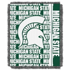 Michigan State Spartans Triple Woven Jacquard Throw