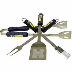 Michigan Wolverines BBQ Grill Utensil Set