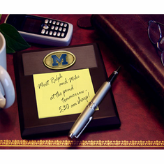 Michigan Wolverines Desk Memo Pad Paper Holder