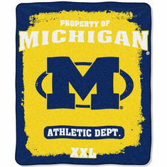 Michigan Wolverines Property of Raschel Blanket