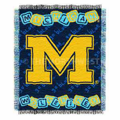 Michigan Wolverines Triple Woven Jacquard Baby Throw
