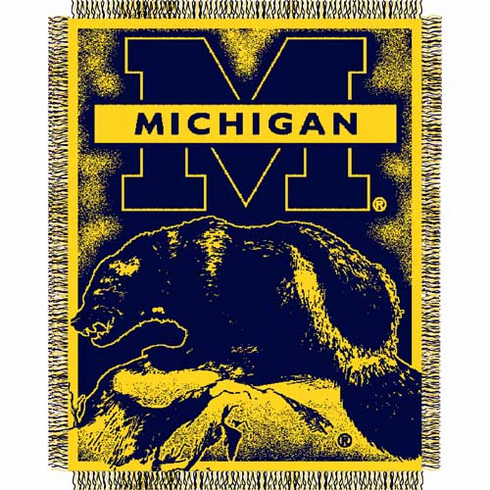 Michigan Wolverines Triple Woven Jacquard Throw