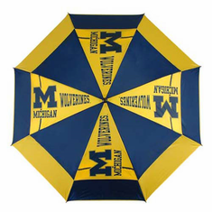 Michigan Wolverines WindSheer II Auto-Open Umbrella - BACKORDERED