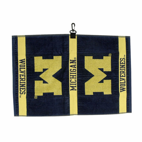 Michigan Wolverines Woven Jacquard Golf Towel
