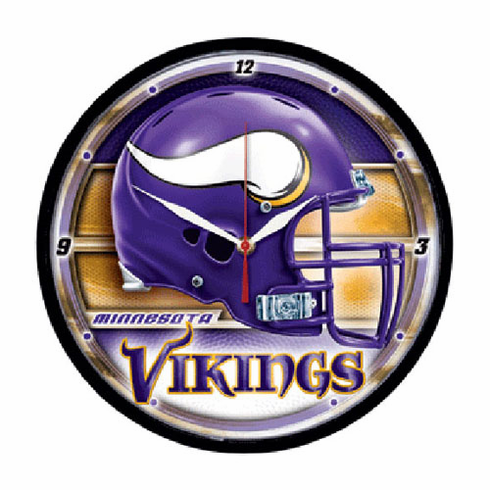 Minnesota Vikings Round Wall Clock - BACKORDERED