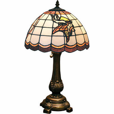 Minnesota Vikings Stained Glass Table Lamp - BACKORDERED