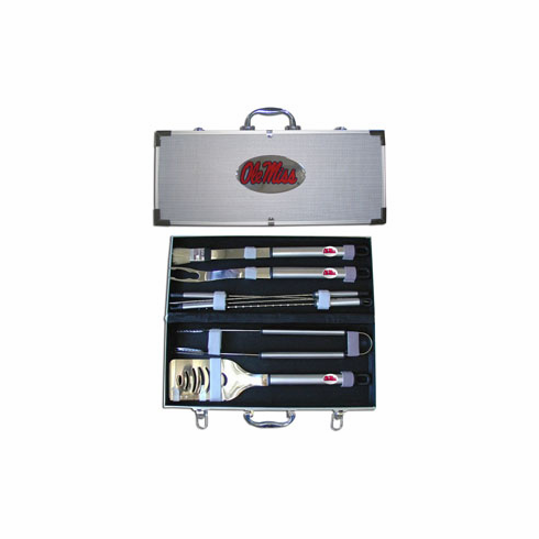 Mississippi Rebels 8pc BBQ Set - BACKORDERED