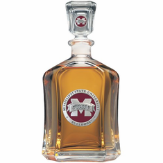Mississippi State Bulldogs Glass Capital Decanter