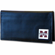 Mississippi State Leather Checkbook Cover - BACKORDERED