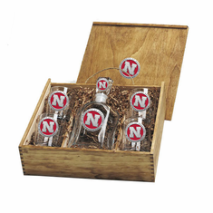 Nebraska Cornhuskers Capital Decanter Box Set