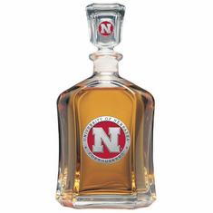 Nebraska Cornhuskers Glass Decanter