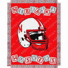 Nebraska Cornhuskers Triple Woven Jacquard Baby Throw