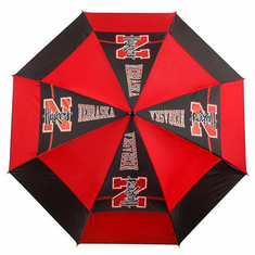 Nebraska Cornhuskers WindSheer II Auto-Open Umbrella - BACKORDERED