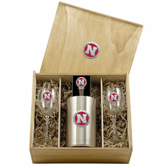 Nebraska Cornhuskers Wine Set Box