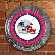 New England Patriots Neon Clock
