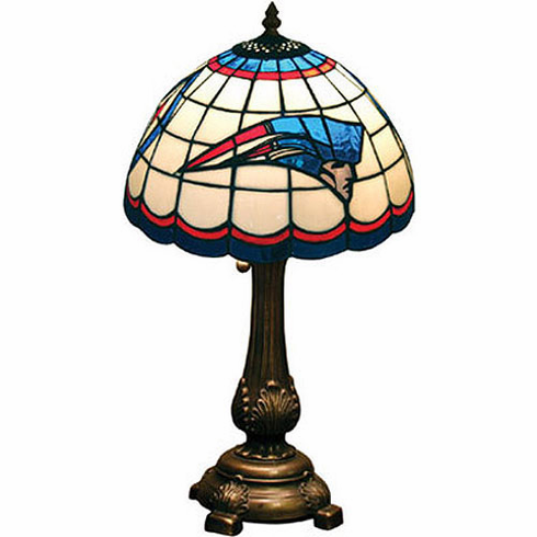 New England Patriots Stained Glass Table Lamp