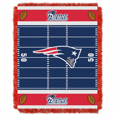 New England Patriots Triple Woven Jacquard  Baby Throw