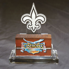New Orleans Saints Business Card Holder w/ Gift Box