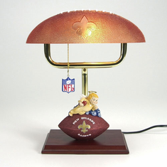 New Orleans Saints Mascot Desk Lamp w/ Football Shade - BACKORDERED