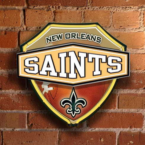 New Orleans Saints Neon Shield Wall/Window Lamp - BACKORDERED