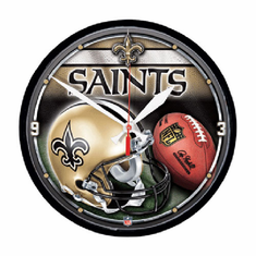 New Orleans Saints Round Wall Clock - BACKORDERED