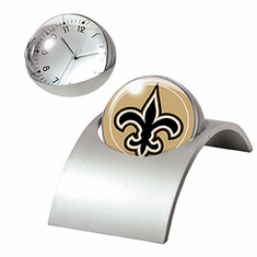 New Orleans Saints Spinning Desk Clock - BACKORDERED