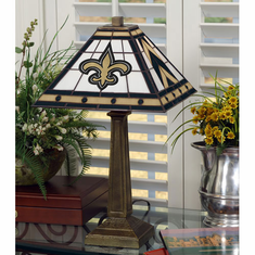 New Orleans Saints Stained Glass Mission Style Lamp - BACKORDERED