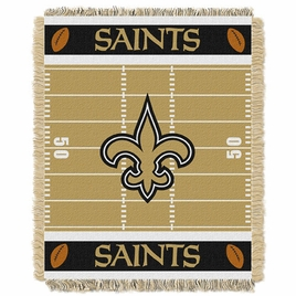 New Orleans Saints Triple Woven Jacquard  Baby Throw