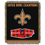 New Orleans Saints NFL Super Bowl Commemorative Woven Tapestry Throw