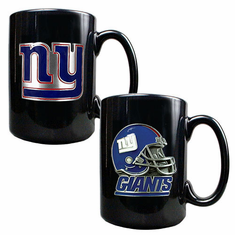 New York Giants 2pc Coffee Mug Set - BACKORDERED