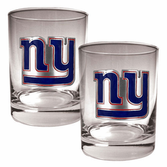 New York Giants 2pc Rocks Glass Set
