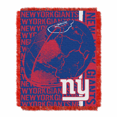 New York Giants NFL Triple Woven Jacquard Throw