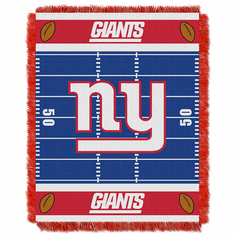 New York Giants Triple Woven Jacquard Baby Throw