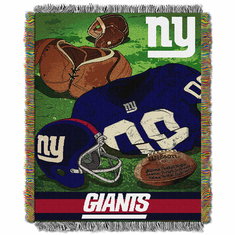 New York Giants Triple Woven Vintage Series Throw