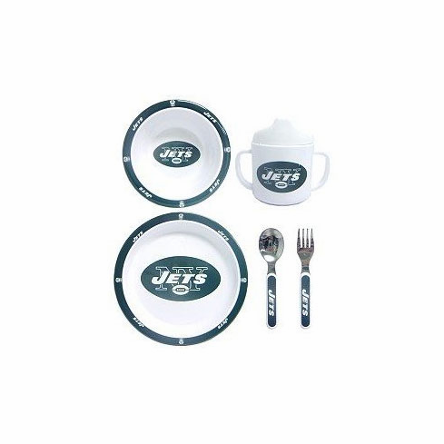 New York Jets Children's 5 Piece Dinner Set - BACKORDERED