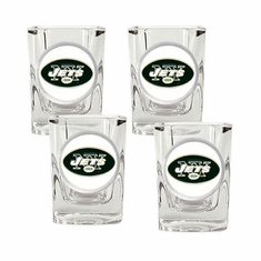 New York Jets Four Piece Square Shot Glass Set