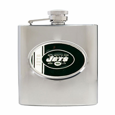 New York Jets Stainless Steel Hip Flask