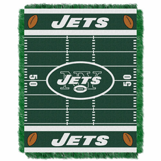 New York Jets Triple Woven Jacquard  Baby Throw