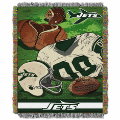 New York Jets Triple Woven Jacquard Throw