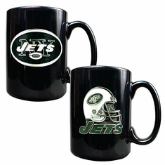 New York Jets Two Piece Coffee Mug Set