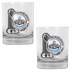 New York Yankees 2009 World Series Champs Rocks Glass Set - BACKORDERED