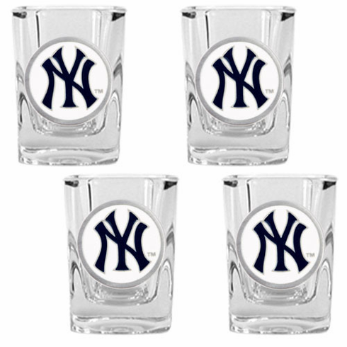 New York Yankees 4pc Square Shot Glass Set - BACKORDERED