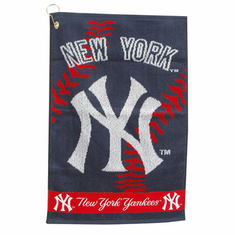 "New York Yankees Jacquard Golf Towel (16""x24"") - BACKORDERED"