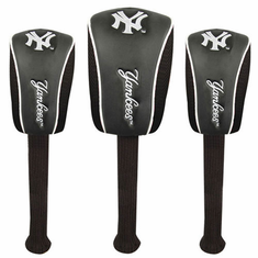 New York Yankees Set of Three Mesh Barrel Head Covers - BACKORDERED
