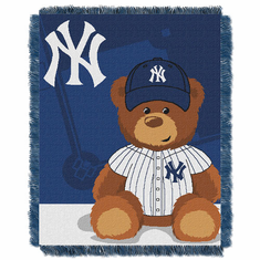 New York Yankees Triple Woven Jacquard Baby Throw