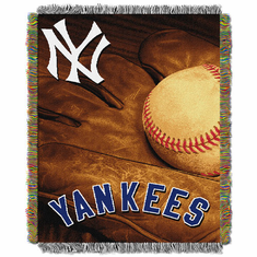 New York Yankees Vintage Series Woven Tapestry Throw