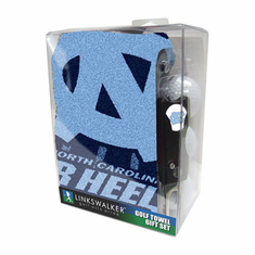 North Carolina Tar Heels Jacquard Golf Towel Gift Pack w/ Balls (3), Repair Tool & Marker
