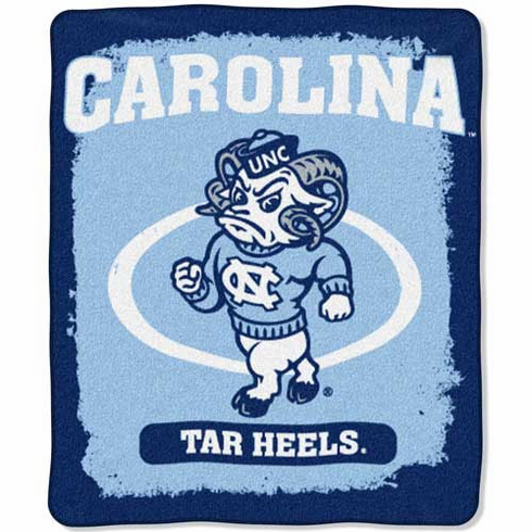North Carolina Tar Heels Property of Raschel Blanket