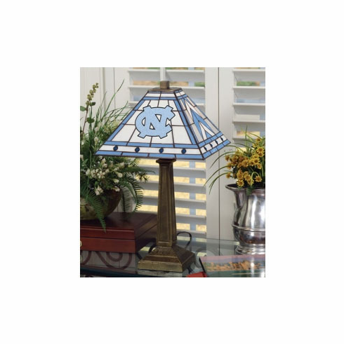 North Carolina Tar Heels Stained Glass Mission Style Lamp - BACKORDERED