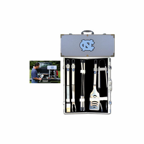 North Carolina Tarheels 8pc BBQ Set